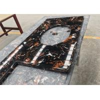 Buy cheap Black Portoro Engineered Stone Vanity Tops Artificial Marble With Oval Cutout product