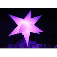 Buy cheap Different Size Hanging Inflatable Led Star 190 T Polyester Material For Party product