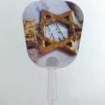 0.6mm PET 3D Lenticular Hand Fans / Custom Printed Hand Fan With 3D Lenticular Printing