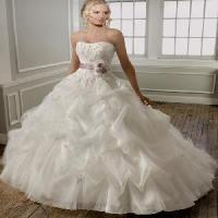 Buy cheap Elegant Strapless A-Line Organza and Lace Bridal Gown (NX10004) from wholesalers