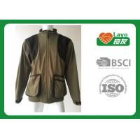 Buy cheap 100% Polyester Olive Color Fleece Hunting Jacket For Hunting / Hiking / Camping product