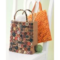 Buy cheap Printed paper button bag product