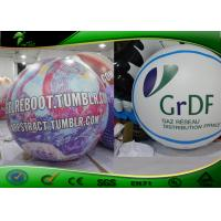 Buy cheap Purple Helium Flying Inflatable Advertising Balloons With Logo Printing product