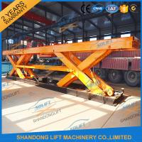 Buy cheap 8T Electrical Hydraulic Scissor Heavy Duty Lift Tables Elevating Platform With Jack Lift product