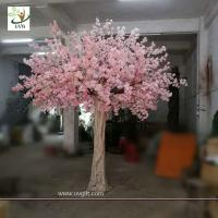 Buy cheap UVG 10 foot pink cherry blossom decorative artificial trees for church wedding from wholesalers
