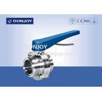China Food grade stainless steel threaded sanitary butterfly valve From 1inch to 6inch on sale