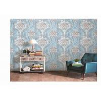 Washable PVC Vinyl Wallpaper Damask  Design Classic For Living Room