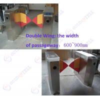Buy cheap 90CM width Sliding Card Double Wing access control barriers with automatic sensor product