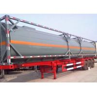 China 3 axles oil tank semi trailer / fuel tanker truck trailer on sale