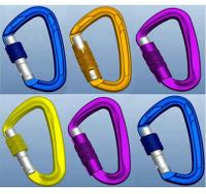China aluminum Screw locking carabiner swivel hooks for hammock on sale