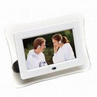 China 7-inch Digital Photo Frame, Can Play Music Movie, Supports TV Out, SD/MMC/MS/XD, USB2.0 Host on sale
