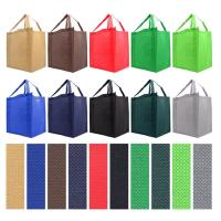 Buy cheap Polypropylene Non Woven Grocery Tote Recyclable Grocery Bags Custom Lightweight product
