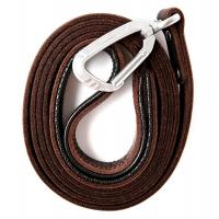 Buy cheap Soft Padded Handle Handmade Dog Leather Leashes Lightweight Natural Brown Color product