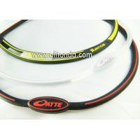 Buy cheap Very slim personalized design rubber bracelet, logo printed silicone wristband product