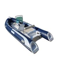 Buy cheap Hypalon Or PVC RIB 480B Rigid Inflatable Boat With Outboard from wholesalers