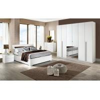 Buy cheap White High Gloss Bedroom Furniture Sets 6 Door Mirrored Wardrobe Acid Resistant product