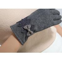 Ladies customized women's fashion micro velvet fabric gloves for iphone screens