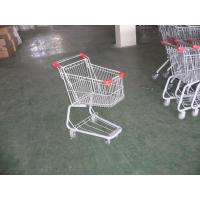 Buy cheap Plastic Supermarket Folding Shopping Carts With Swivel Casters product