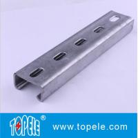 Buy cheap 41x41mm Unistrut Channel , 41X21MM Pre-galvanized / Hot Dipped Slotted Strut Channel product