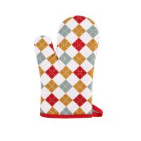Buy cheap Hand Protective Cotton Oven Mitts , Christmas Pattern Printed Kitchen Mitts Gloves product