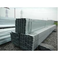 China Large Diameter Hdgi Galvanized Steel Pipe Rectangular / Motorcycle ERW GI Tubing on sale