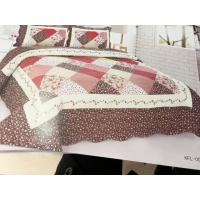 Buy cheap Imitated Patchwork Home Bed Quilts Brown Color Widely In Home Bedding product