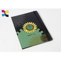 China 250g Custom Printed Notebooks Perfect Binding Exercise Book Logo Gold Stamping on sale
