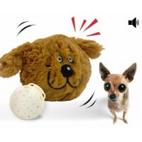 Buy cheap Interactive Plush Dog Squeaky Toy Electronic Motion Ball Nontoxic Plush ABS Material product