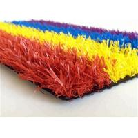 Buy cheap Colorful Synthetic Faux Turf Grass , Artificial Turf Backyard For Kindergarden from wholesalers