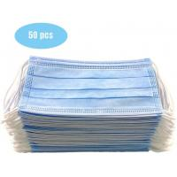 Buy cheap CE FDA 3 Ply Protective Earloop Face Mask High Efficiency Face Protection product