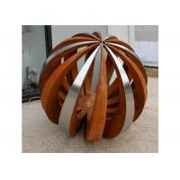 Buy cheap Outdoor Decor Corten Steel Sculpture , Painted Stainless Steel Ball Sculpture product