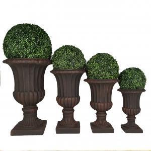 Buy cheap 2019 Factory sales high strength light weight fireproof durable handmade fiber clay urn planter for garden decoration product