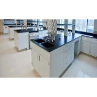 Buy cheap White And Black Lab Tables Work Benches With Floor Mounted Structure product
