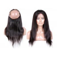 Buy cheap 7A 130% Density Full Lace Frontal Closure , 360 Lace Frontal Closure With Baby Hair product