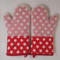 Buy cheap Little Star Printed Red Silicone Gloves Heatproof Kitchen Oven Mitts 7.25 x 13.25 inch product