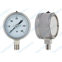Cheap Reliable pressure gauge / stainless steel pressure gauge with back blow out disc wholesale