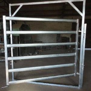 Buy cheap Galvanized  Round Oval 40mm 6-bar Rail Livestock Sheep Panels product