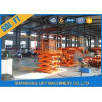 Quality 1T Stationary Hydraulic Scissor Lift Elevator , Pallet Scissor Lift Platforms for sale