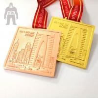 Buy cheap Golden  Silver Metal  Square Medal   For Trophies   Stainless Steel Material product