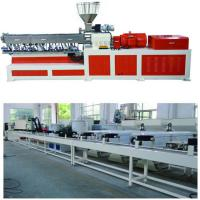 Buy cheap Electricity Twin Screw Extruder Granulation Pelletizing System PP PE Conveyor Belt Machine product