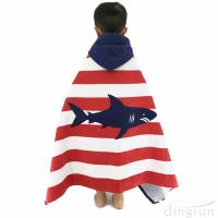 Buy cheap Children Hooded Towel 100% Natural Cotton Beach Poncho Towels Swim Bath Towels product