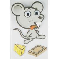 Buy cheap Big Animal Layered 3D Cartoon Stickers For Children Custom Offset Printed product