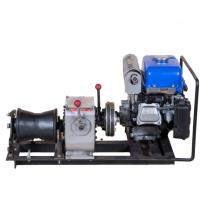 Buy cheap Gas Powered Winch Portable Cable Pulling Machine Capacity 1 Ton Cbale Winch product