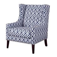 Buy cheap Living Room Printed Accent Chairs Chair With Silver Nail Head Trim product