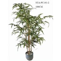 Buy cheap CE Artificial Decorative Trees , Artificial Bamboo Tree Lush Vibrant Leaves Real Bamboo Stems product