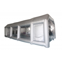 Buy cheap 6x4x3m UV Resistant Silver Inflatable Car Spray Booth Painting Station For Car Painting product