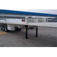 China Skeleton Flatbed Container Trailer / Aluminum Flatbed Semi Trailer 3 Tire on sale