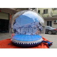 Buy cheap Outdoor 3m Inflatable Human Size Snow Globe For Promotion product
