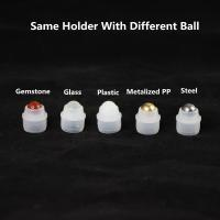 Different size design custom available plastic insert plug holder with various roller balls