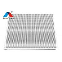 Buy cheap White Perforated Lay In Acoustical Ceiling Tile Floating 600 X 600mm Round Hole 3.0 product